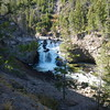 Fire Hole Falls, WY within Yellowstone NTL Park, road side view.