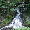 Judy Branch Cascading Falls, NC near Deals Gap on Hwy 28, road side view.