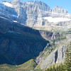 Grinnel Falls, MT within Glacier NTL Park can also see Gem Glacer top left and Salamander Glacier top right.