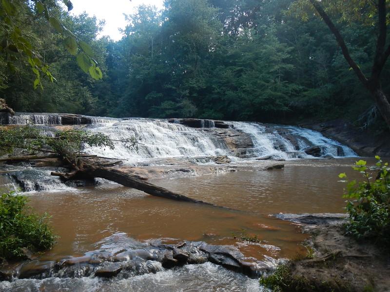 North Deep Creek Falls, NC  Road side view.