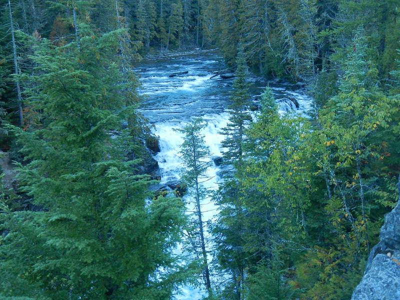 McDonald Falls, MT within Glacier NTL Park, roadside view.