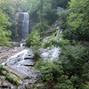 Twin Falls AKA Reedy Cove Falls N35 00.821 W82 49.123, west of Table Rock State Park, SC off of Hwy 178 and short drive, easy access, very short walk.