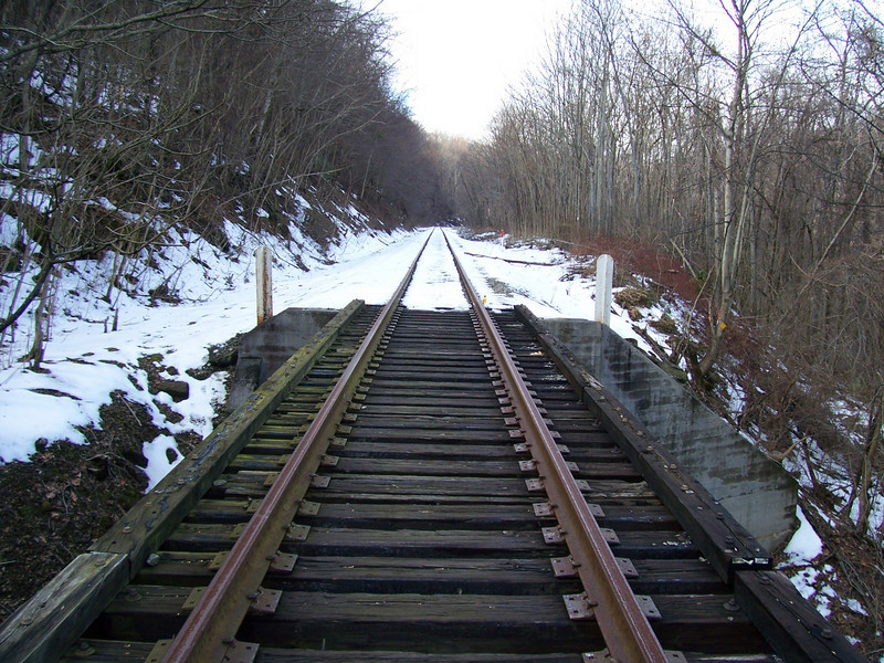RR Tracks over Melrose Mtn Falls, NC