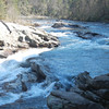 Bull Sluice Rapid/Falls, SC/GA state line on the Chattooga River.