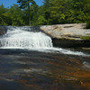 Bridal Veil Falls, NC  upper portion, within the DuPont State Forest.  4.8 miles round trip walk, all on gravel road.