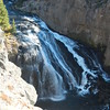 Gibbon Falls, WY within Yellowstone NTL Park, roadside view.