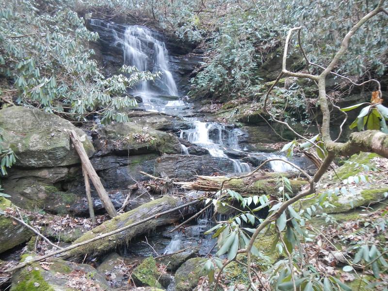 Camp Branch Falls, SC near Opossoum Creek Falls, SC.