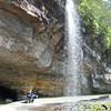 Bridal Veil Falls, NC, off Hwy 64, between Franklin and Highlands, NC.
