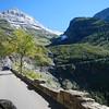 Haystack Creek Falls, MT within Glacier NTL Park, roadside view.