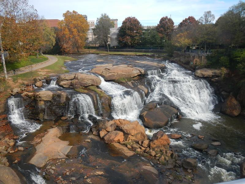 Reedy River Falls, SC 2015  in downtown Greenville.