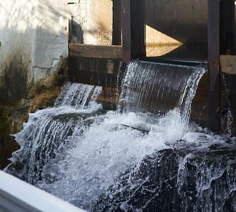 Mill Falls Waterfall -- Frozen Look