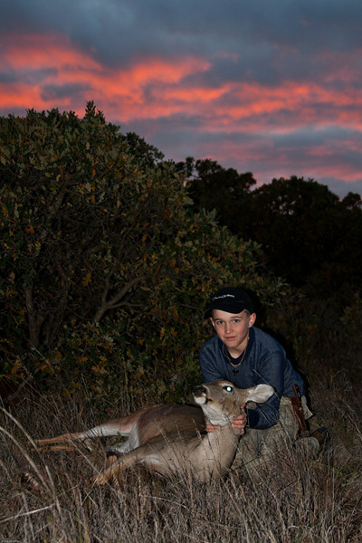Zach's First Deer With a Bow
