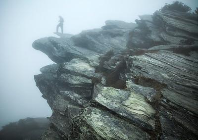 Hawksbill Mountain Fog