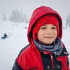 Ezra and Eli at Paradise, sledding