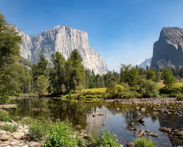 Merced River and El Capitan- Yosemite National Park