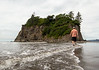 My nephew on Ruby Beach heading for Abbey Island