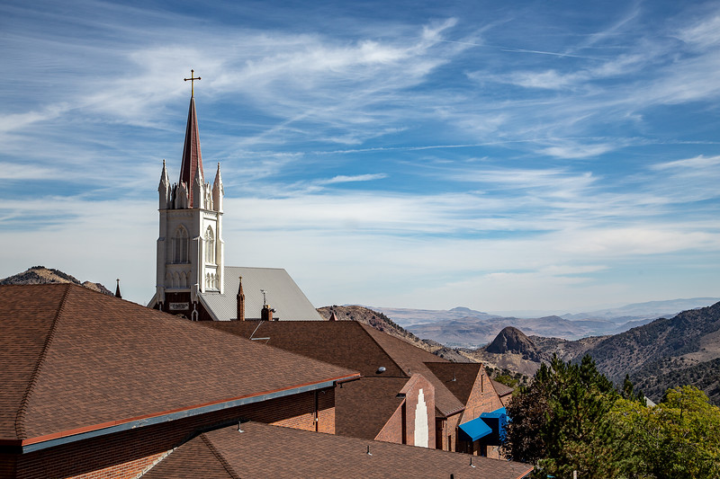 St. Mary in the Mountains and Hundred Mile View, Virginia City, NV