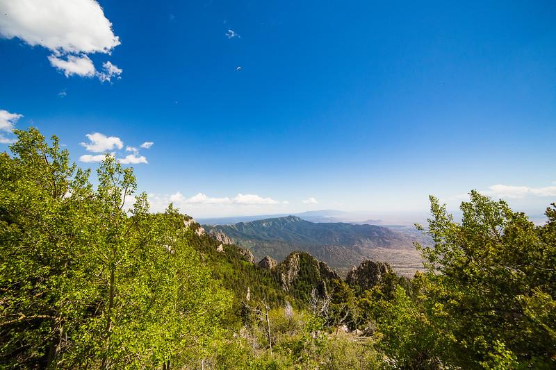 Paraglider Above the Sandias- Albuquerque, NM
