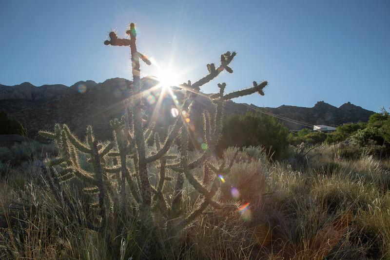 Sunrise over the Sandia Tram- Albuquerque, NM