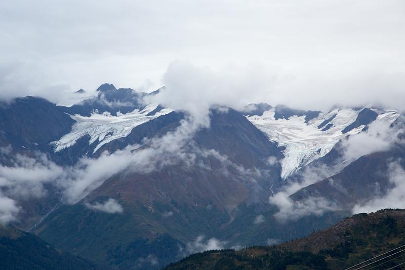 Hanging glaciers in Girdwood, AK