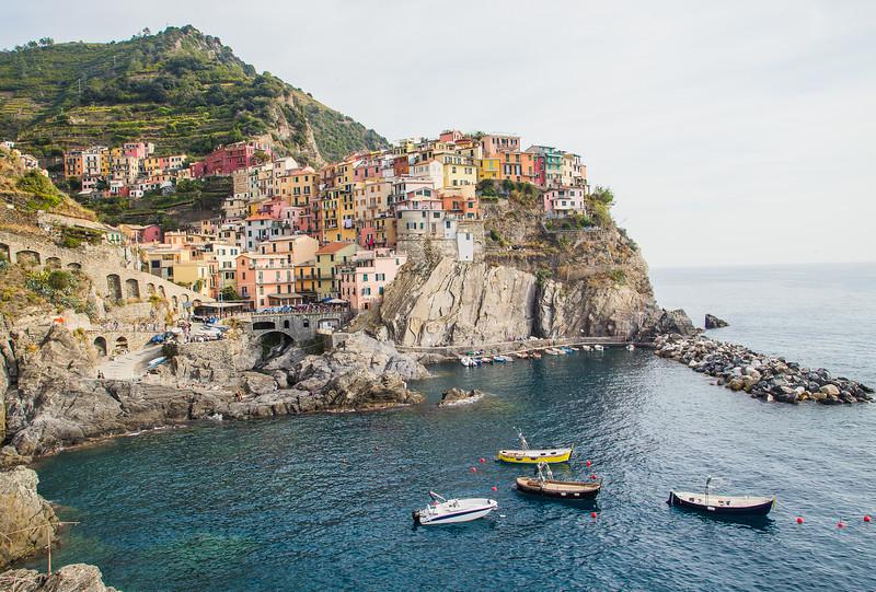 Village of Manarola in Cinque Terre, Italy