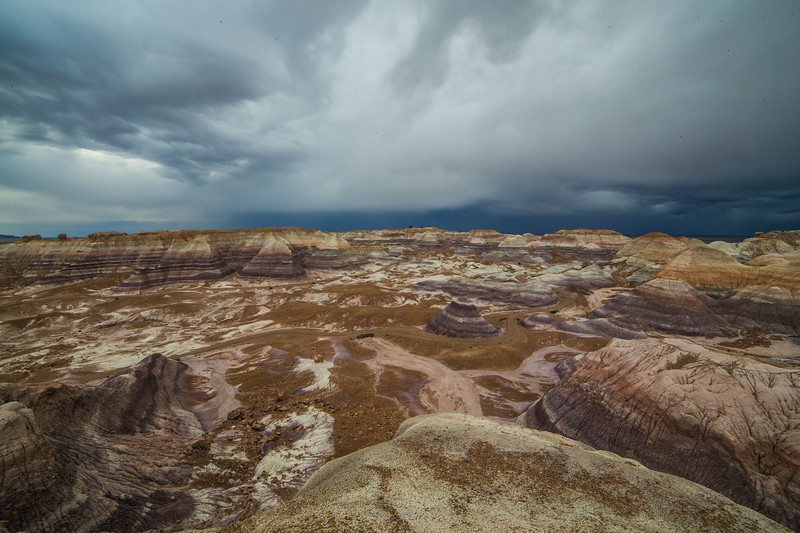 Blue Mesa in Petrified Forest N.P.