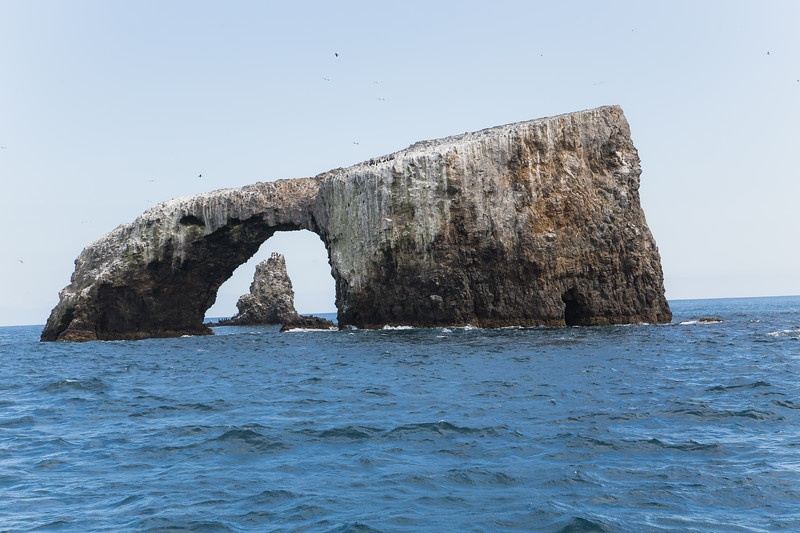 Arch Rock off the coast of  Anacapa Island in the Channel Islands National Park