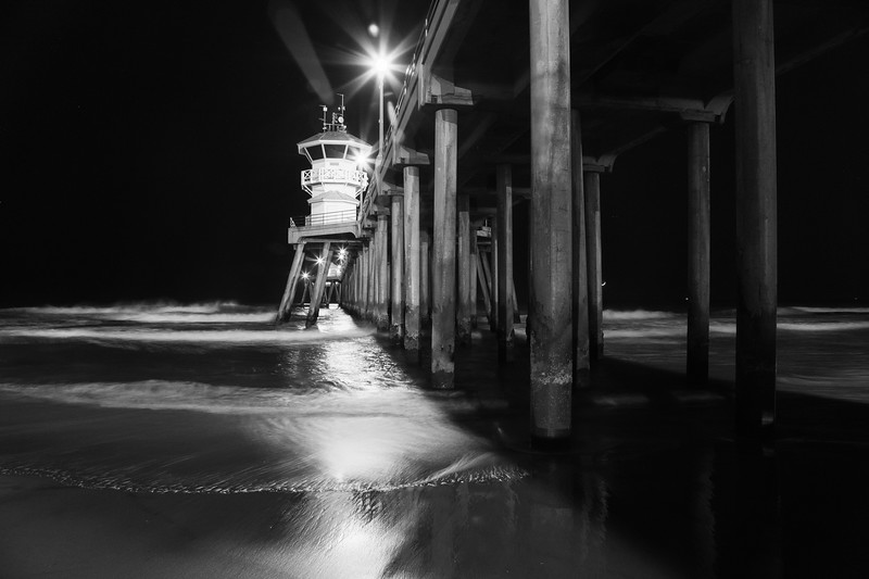 Night time under the pier