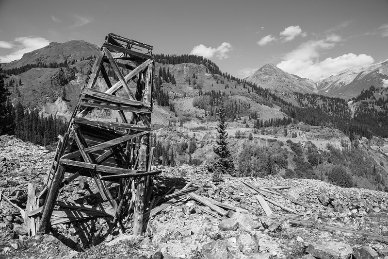 Old mine below Red Mountain #3 near Ouray, CO