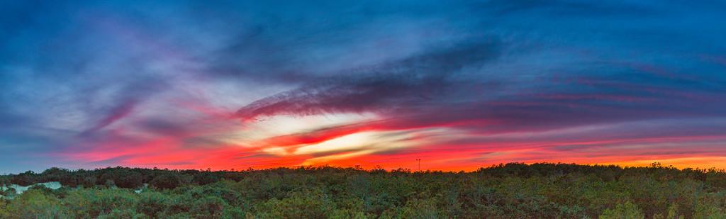 Outer Banks Sunset Panorama