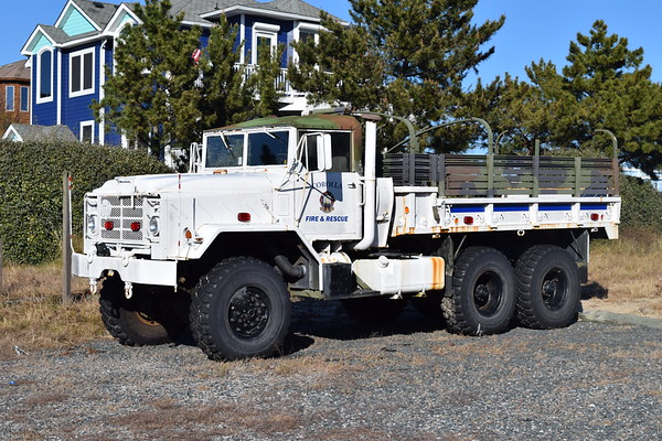 Storm 6 is this 1991 BMY M923A2, 5 ton, 6x6.  Ex- Red River Army Depot TACOM and Ft. Eustic, Virginia - delivered to Corlla via the NC Forestry.  Housed at Corolla's Station 6.