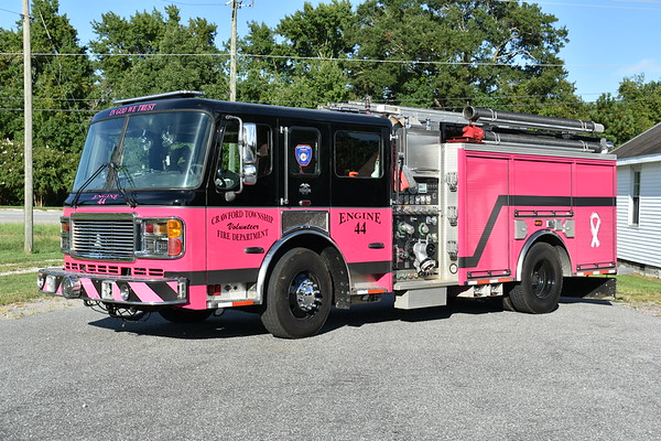 Crawford Township, North Carolina - Engine 44 is a 2003 ALF Eagle with a 1250/750 and ALF serial number L73169.  Originally delivered to Livonia, Michigan where it ran as Engine 3.  Received by Crawford Township in 2018, it was painted in Michigan prior to arriving at Crawford Township.