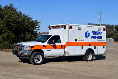 Medic 7 from Currituck County is a 2004 Ford F-450 4x4/Wheeled Coach.  ex - Blacksburg, Virginia VRS.  One of two similar units purchased from Blacksburg.