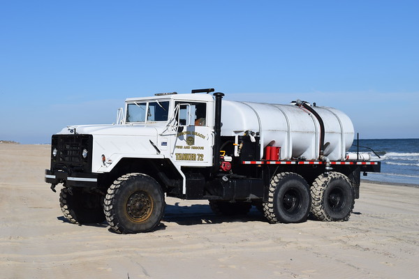 Tanker 72 - a 1991 BMY M923A2, 5 ton, 6x6/2017 TMI.  Equipped with a 2,000 gallon tank, former US Military.  The 'Mack' label on the front is from the TMI service shop.