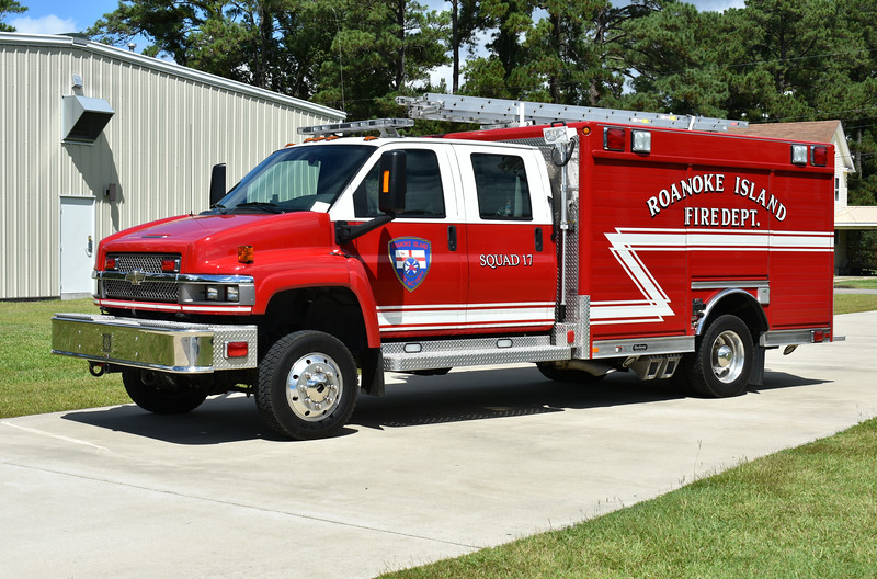 Roanoke Island, North Carolina in Dare County added ladders to their Squad 17, a 2009 Chevrolet C5500/Hackney.