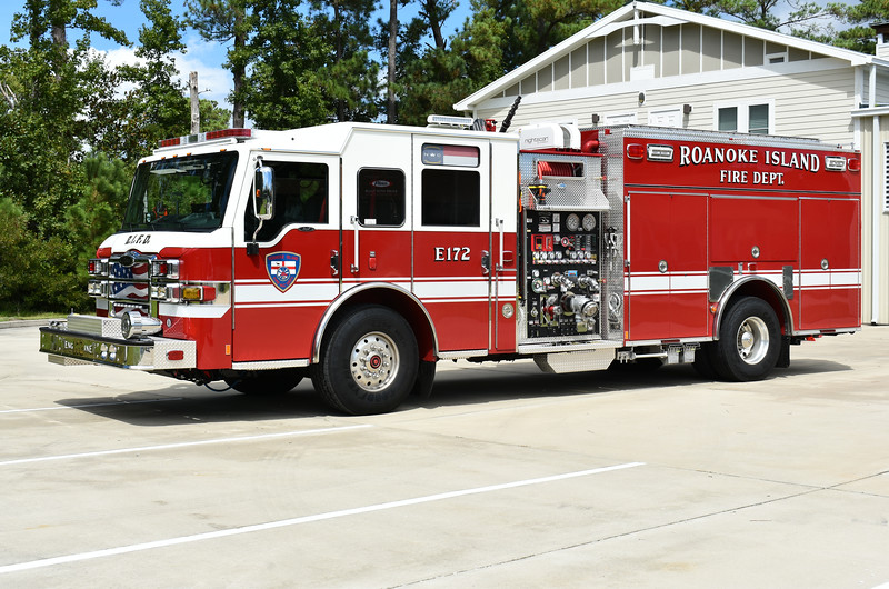 Roanoke Island, North Carolina (Dare County) Engine 172, a 2018 Pierce Impel with a 1500/1000/40 and Pierce job number 31417.