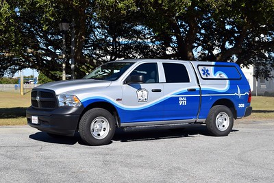 Dare County EMS - Quick Response Vehicle 305, a 2018 Dodge Ram.