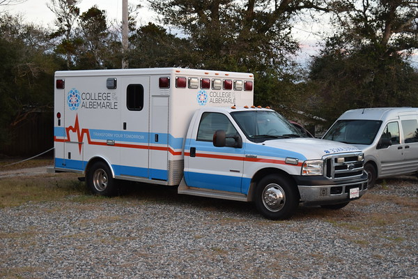 College of the Albemarle ambulance that was found outside of Hatteras Island Rescue Squad.