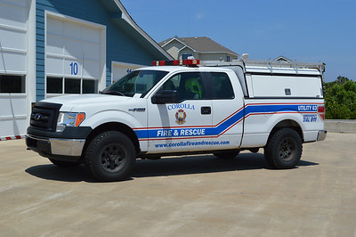 Utility 63 from Corolla is this 2011 Ford F150 pick up truck with a ARE cap.  It was once a Currituck County Sherriff's Department vehicle.