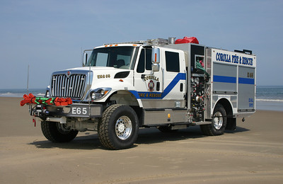 Corolla's Engine 65, a 2009 International 7600 4x4/2011 OBX Fire Tech equipped with a 1250/850/30.