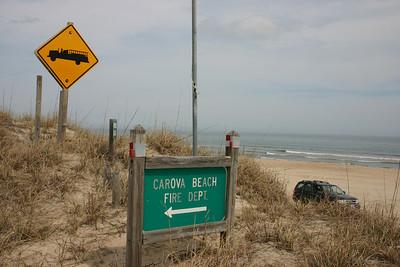 Access to Carova Beach FD is from the beach.