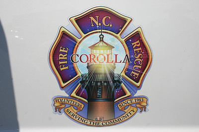 Corolla, NC operates from two stations - the main station in Corolla and the Pine Island substation.  Home to the Corolla Light House, which you see on the department insignia.