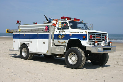 Engine 64, a 1987 GMC 7000/E-One 750/500 with serial number 6016.