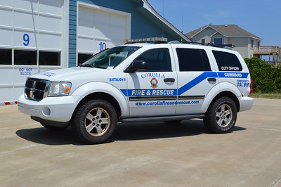Battalion 6 for Corolla Fire & Rescue is this 2008 Dodge Durango.  It is the department's duty officer vehicle and was originally Chief 6's vehicle.