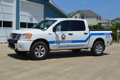 Corolla's Utility 61 is this 2008 Nissan pick up, which was formerly a Currituck County Sherriff's department vehicle.