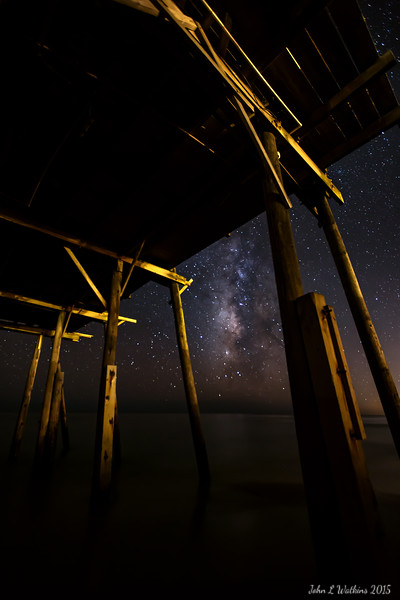 Milky Way Through the Pier