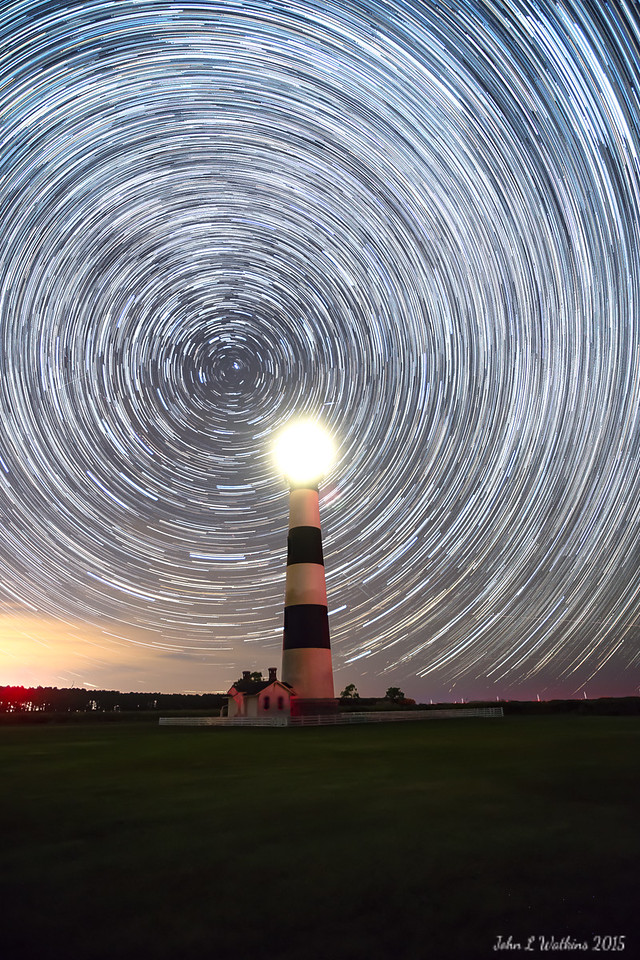 Star Trails at Bodie Lighthouse