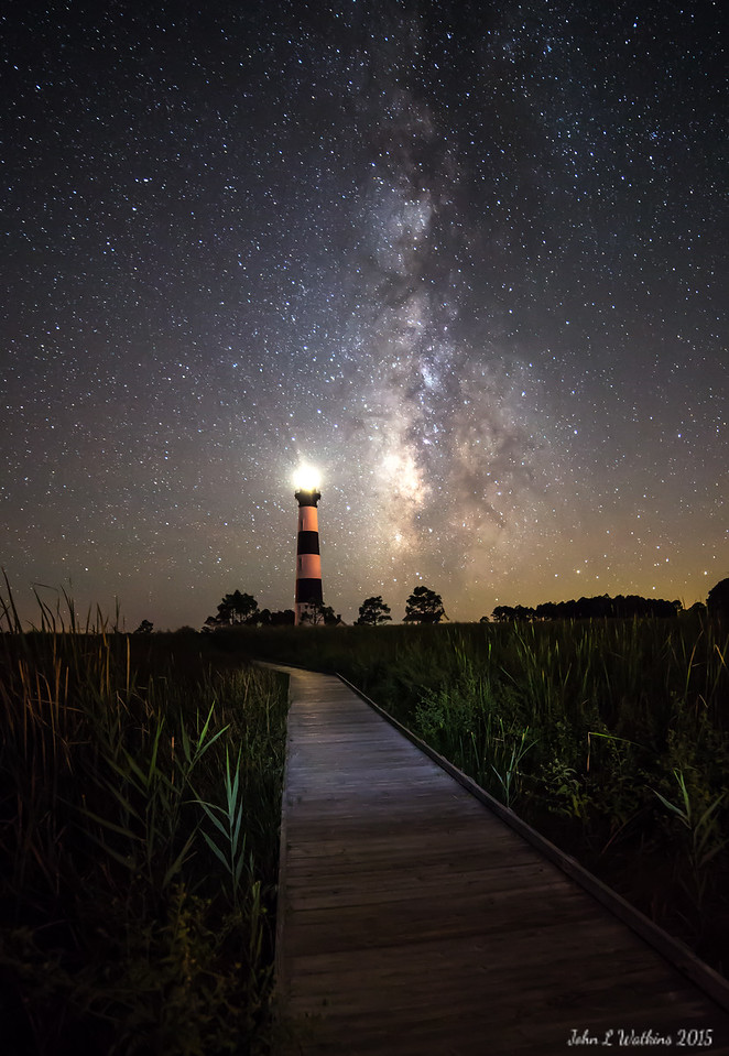 Path to the Lighthouse and the Milky Way