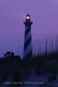 HATTERAS LIGHT BEAM BEFORE DAWN