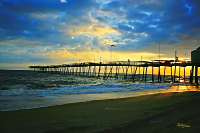 Sunrise over Avalon Fishing Pier